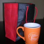 cup and bag